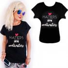 K571 Cotton T-Shirt , Top, Heart, Black