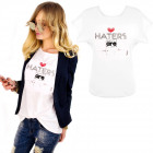 K574 Cotton T-Shirt , Top, Heart White