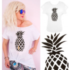 G1214 Cotton Women's Top, Plus Size, Pineapple