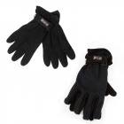 Warm, Men Gloves, Fleece, Black, C1986