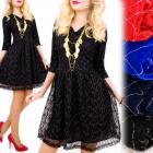 BI642 Romantic Dress, V-neckline, Shiny Look