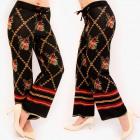 A875 Women Pants, Trousers, Arabian Style, Black