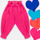 A19138 Girls Pants, Haremas pants, Bow, 4-12