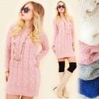 A847 Winter Dress, Long Sweater, Warm & Sexy