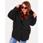 EM24 Women Plus Size Jacket, Kimono, Boucle CZAR