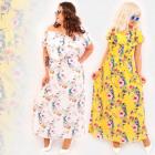 C17555 Long Plus Size Dress, Pink Lilies