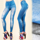 4182 Leggings Like Jeans, Tubes, Hole Print