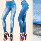 4182 Leggings Like Jeans, Tubes, Hole Print