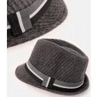 A1261 Mens Hat, Cap, Stripes, Gray Tone