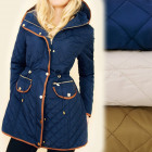 A28157 Longue veste d'automne, manteau à capuc