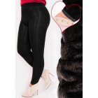 4384 Bamboo Leggings with Fleece, Plus Size Black