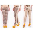 B16730 Patterned Women Jeans, Street City Look