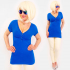 4590 Summer Tunic, women Blouse, Deep V-neck