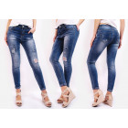 B16707 Jeans, Trendy Patches and Hole Pants