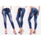 B16707 Jeans, patchs tendance et pantalons trou