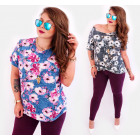 C11518 Summer Plus Size Blouse, Pattern: Magnolias