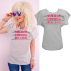 K552 Cotton T-Shirt , Top, Well Done, Gray