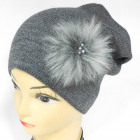CZ10 Warm Women Cap, Hat, Fur & Pearls