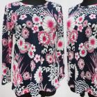 K2773 Warme Bluse, Große Größe, L-4 XL, Muster