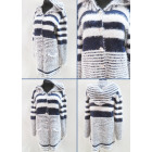 K60 Elegant Cardigan, Women Sweater, Stripes
