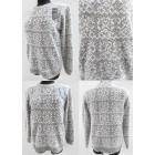K79 Loose Warm Sweater, Tunic, Snowflakes Pattern