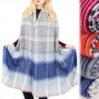 A1214. Extensive XXL Scarf, Plaid and Ombre patter