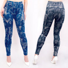 4507 Women Leggins Photoprint, Jeans, 3 D Effect