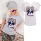 K579 T-Shirt coton, Top, J'aime la musique, gr
