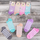 4248 Cotton Women Socks, Feet, Pastel Stripes
