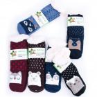 Chaussettes épaisses pour enfants avec fourrure, A
