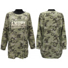 Women's Sweatshirt, Loose Oversize, Angel, M-3