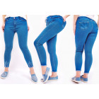 B16791 Women Jeans, Plus Size, Blue
