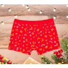 SOF01 Christmas Mens Boxer, Shorts, M-2XL, cotton