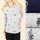 C11328 Loose Blouse, Open Arms, Flowers