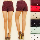 BI420 ELEGANT SHORTS, pants, SMALL DOTS PATTERN