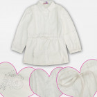 A19225 White Girl Blouse, Jets, 4-12 Years