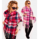 A1255 Big scarf - blancket , fluffy XXL Plaid, tas