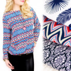 C24163 Loose, Patterned Blouse, Various Patterns
