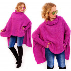 PL4 Woll-Oversize-Pullover, Golfponcho