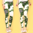 4443 Spring Leggings, Pants, Diamonds Pattern