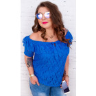 BI677 Romantic Blouse, Lace, Spanish Style