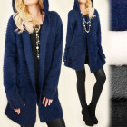 C17239 Warm, Long Cardigan, Women Coat with Hood