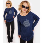 R115 Comfortable Tunic Oversize: Silver Apple