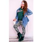 4294 Plus Size Leggings, Bamboo Slim, Moro Pattern