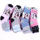 Womens Socks, cotton , Polka Dot pattern, 35-42