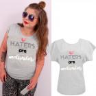 K573 Cotton T-Shirt , Top, Heart Gray