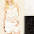 FL508 Romantic Top, Blouse, Effective Lace