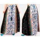 C17690 Women Maxi Skirt, Decorative inprint, Cord