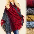 FL607 Schal, Schal, schattierte Farben, neugierige