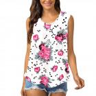 Women Blouse, Summer Top, Flowers L-4XL, 6620